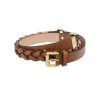Mulberry - Women's Braided Belt in Oak Soft Buffalo