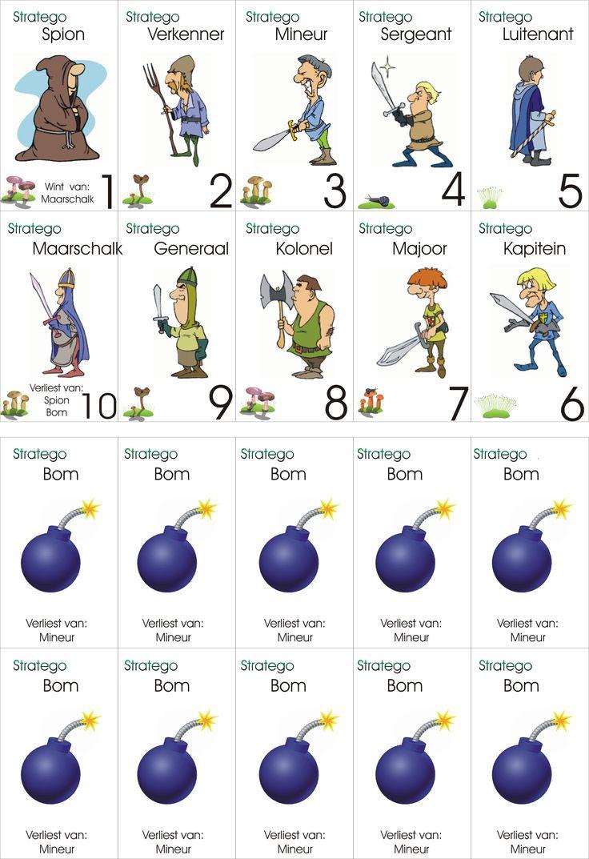 Levend Stratego: kaartjes afprinten, lamineren en spelen!