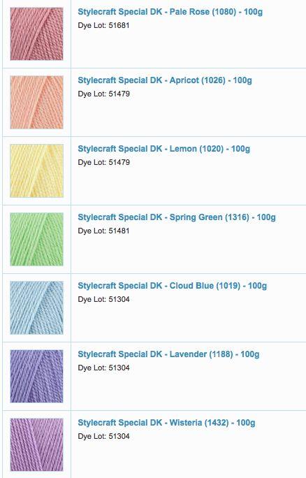 Stylecraft special pastel rainbow