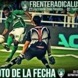 Andrés Ramiro 'Manga' Escobar define frente al arquero del Junior para darle la ventaja parcial al Deportivo Cali en juego que terminó en empate a un gol.