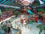 Article about Westgate Smoky Mountain Resort: Located at Westgate Smoky Mountain Resort, Wild Bear Falls' mountain themes, streams, and mezzanine set it apart from other indoor water parks of its size.