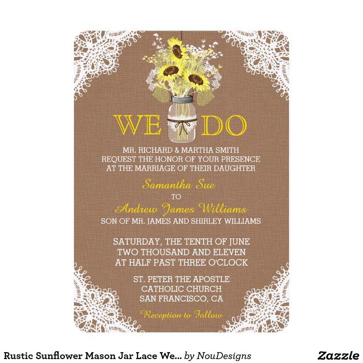 579 best Rustic Wedding Invitations images on Pinterest | Wedding ...