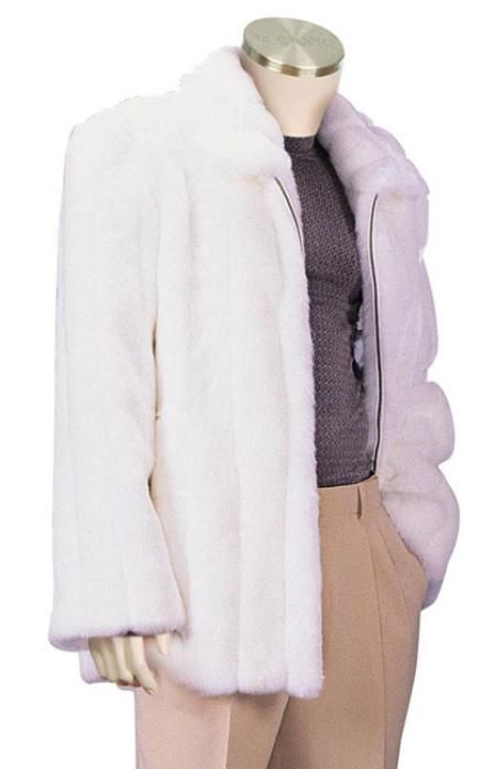 Wear this Mens White Faux Fur Coat for only US $150.Buy more save more. Buy 3 items get 5% off, Buy 8 items get 10% off.