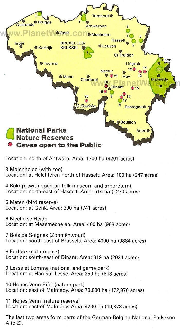 Map of National Parks and Natural Reserves | PlanetWare