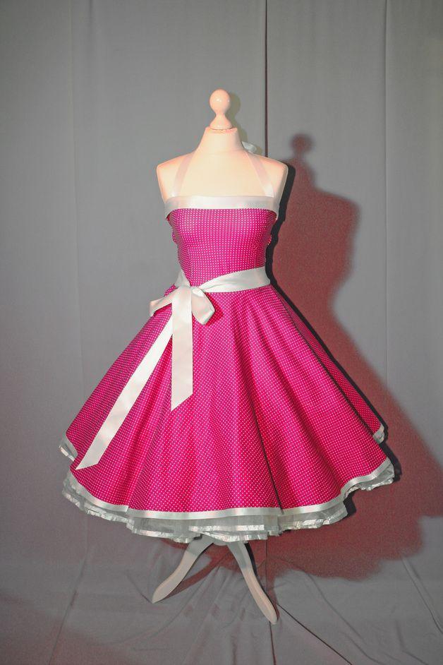 Spodnička šaty rockabilly 50s fashion růžové