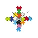 Karlsson Wall clock DIY puzzle multi colour