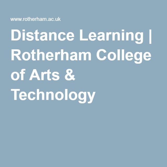 Distance Learning | Rotherham College of Arts & Technology