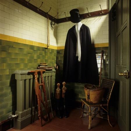 The Gentlemens Cloakroom at Wightwick Manor, Wolverhampton, West Midlands