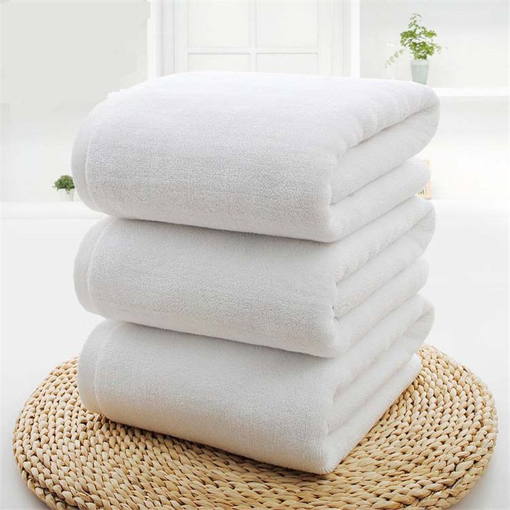 Luxury Hotel Cotton Bath Towel 70*140cm,Extra Large Beach Towel Bright White for SPA,Hotel,Bathroom