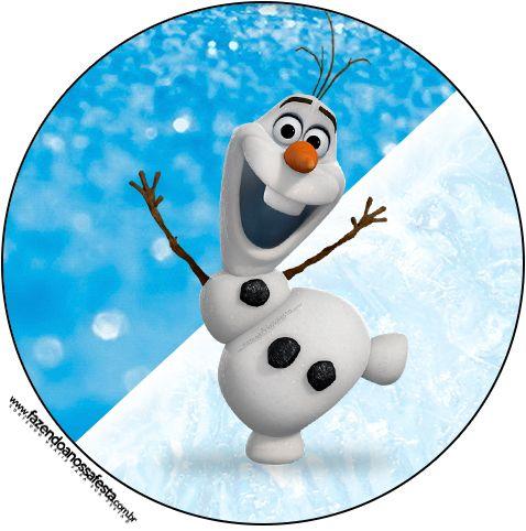 Tubetes, Latinhas e Toppers Olaf Frozen
