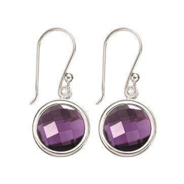 EARRINGS KAGI GEMPOPS CLASSIC STERLING SILVER PURPLE CUBIC ZIRCONIA SET (EARRINGS AND POPS SOLD SEPARATELY) - Jons Family Jewellers