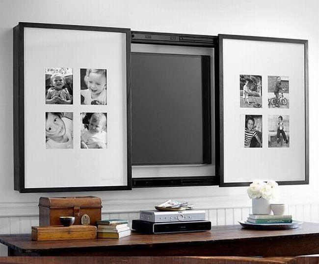 jak ukryć telewizor w salonie ukryty telewizor we wnętrzu w domu inspiracje design pomysły rozwiązania 20