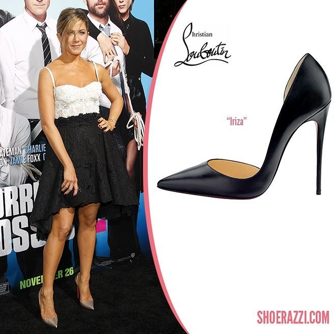 Jennifer Aniston wore Christian Louboutin Iriza pumps to the premiere of Horrible Bosses 2 held at the TCL Chinese Theatre in Hollywood.