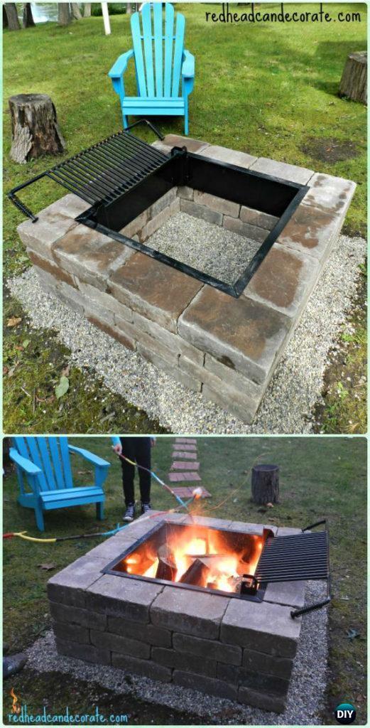 DIY Brick Firepit Grill Instruction - DIY Backyard Grill Projects