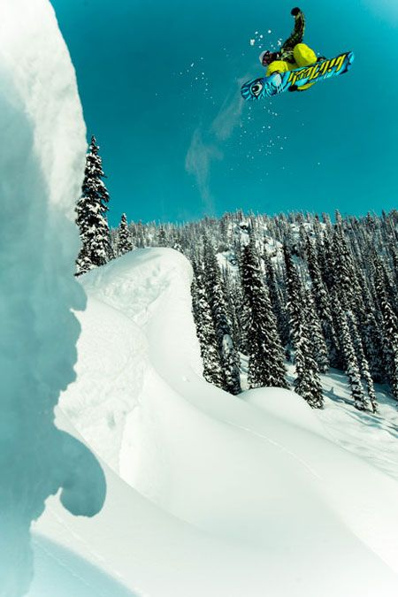 Kicker, dude getting wicked, landing. First rule? Check. Photo: Cole Barash.