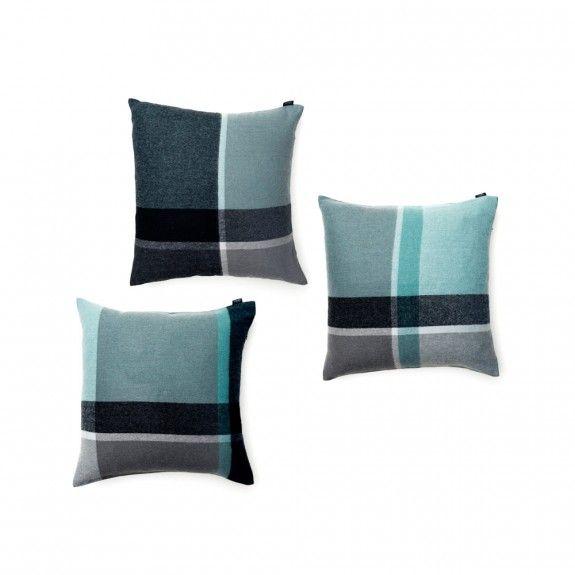 Elvang Manhattan Cushion Set Of 3 Jade Green/Dusty Green | Occa-Home.co.uk