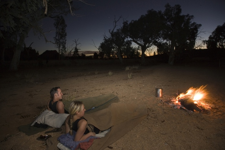 Sleeping under the stars in the Australian Outback