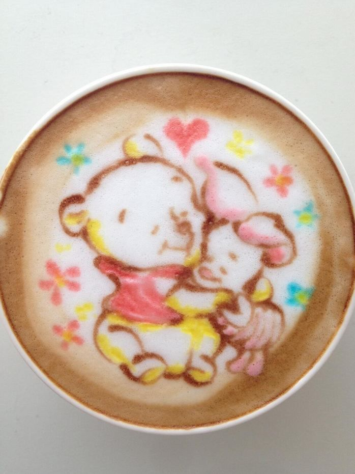 Pooh and Piglet, just needs Tigger and it would be perfect for my son! His theme was Tigger!