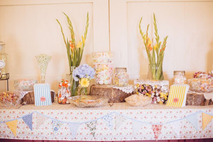 Wedding pick and mix table.
