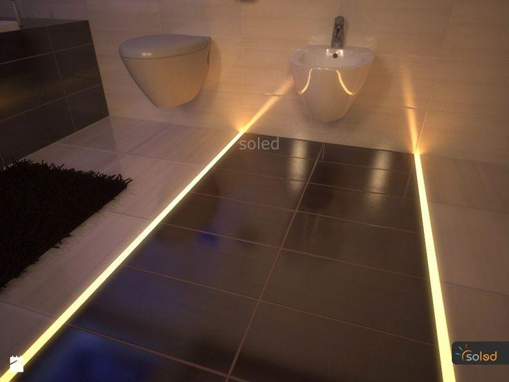 Podświetlenie LED fug w łazience - zdjęcie od SOLED Projekty i dekoracje świetlne - Łazienka - Styl Nowoczesny - SOLED Projekty i dekoracje świetlne