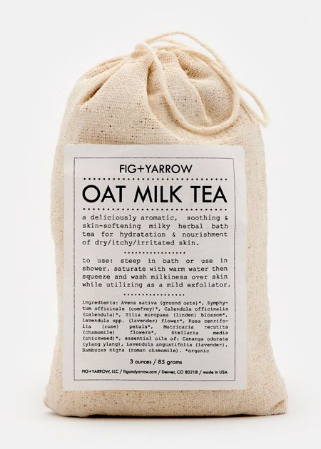 100 Best #Christmas #Gift #Ideas | Fig+Yarrow Oat Milk Herbal Tea Bath is made from organic ingredients including lavender, chamomile, rose petals, and essential oils. Just soak the sachet in warm water, draw out the milky tea, and gently smooth over skin for a rich, moisturizing treatment.