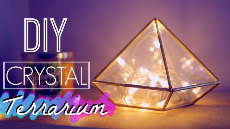 DIY Room Decor: Crystal Terrarium | Tumblr and Urban Outfitters Inspired
