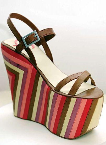 Pastel inspirado en un zapato de Jimmy Choo.