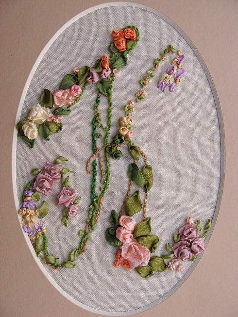 Ribbon embroidery monograms kits buy online