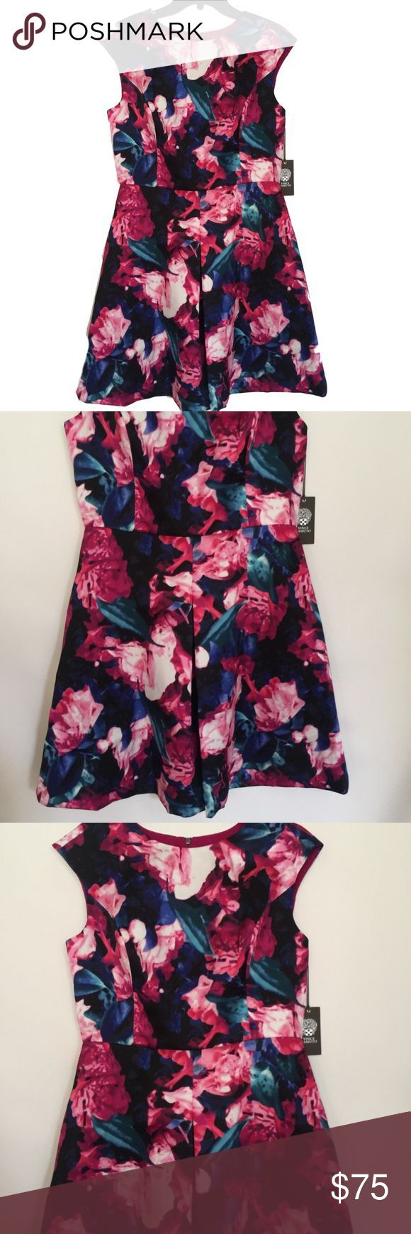 Vince Camuto Floral Sleeveless Dress Size 10 M NWT Vince Camuto Floral Sleeveles…