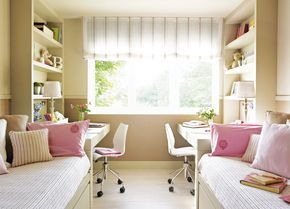 Дизайн комнаты для девочки подростка (Фото)  Оформление помещения для двух (2) девочек   Ремонт квартиры