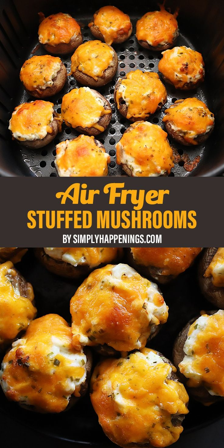 Air Fryer Stuffed Mushrooms Simply Happenings Recipe