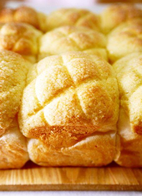 四角いメロンパン!? メロンちぎりパン。 by ほっこり~の [クックパッド] 簡単おいしいみんなのレシピが223万品