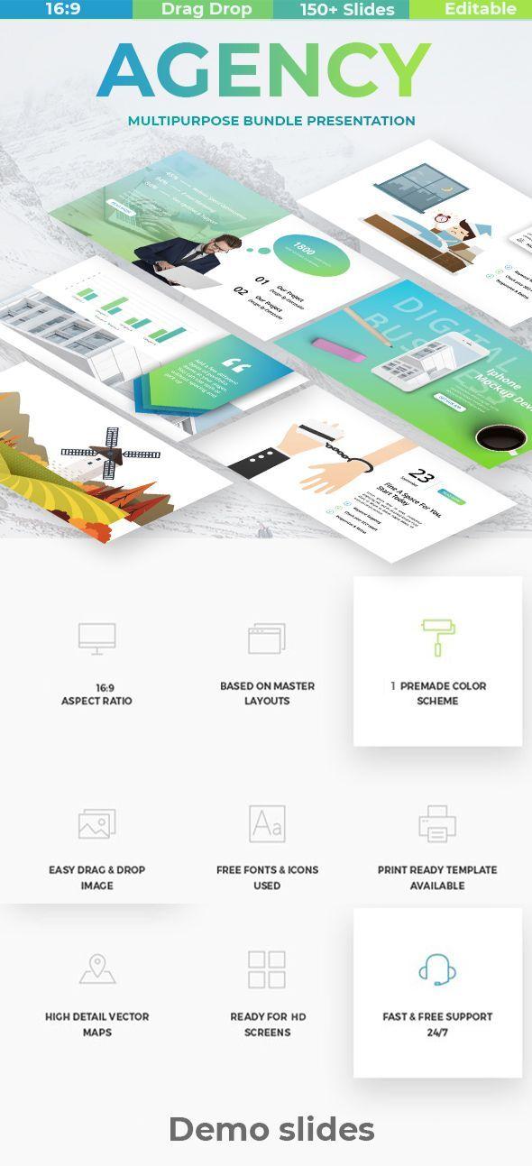 agency digital business google slide template pptx infographic