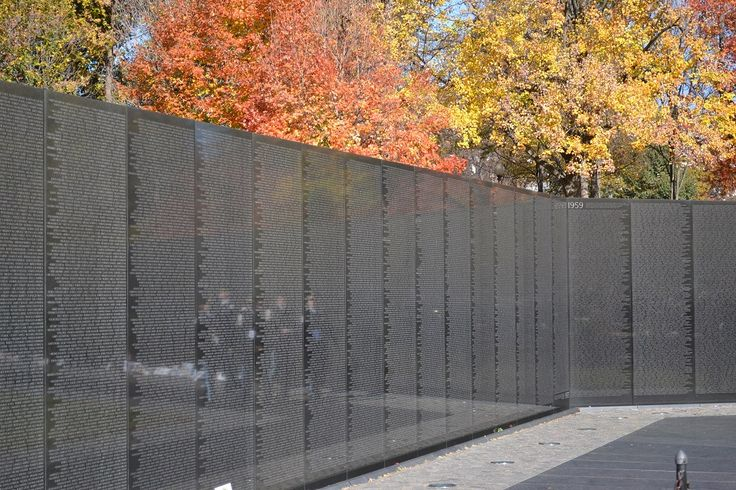 The Vietnam Veterans Memorial chronologically lists the names of more than 58,000 Americans who gave their lives in service to their country.