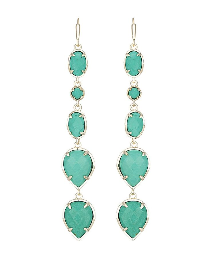 Byron Long Earrings in Teal - Kendra Scott Jewelry