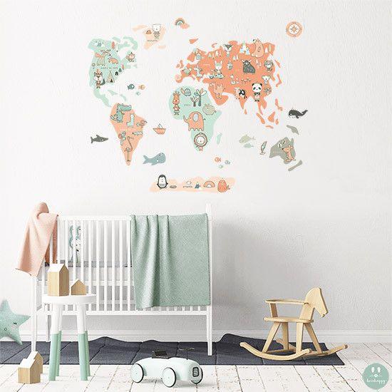 Vinilo infantil de tela mini con auténticas ilustraciones ideal para la decoración unfantil a la venta en la tienda online de vinilos infantiles.
