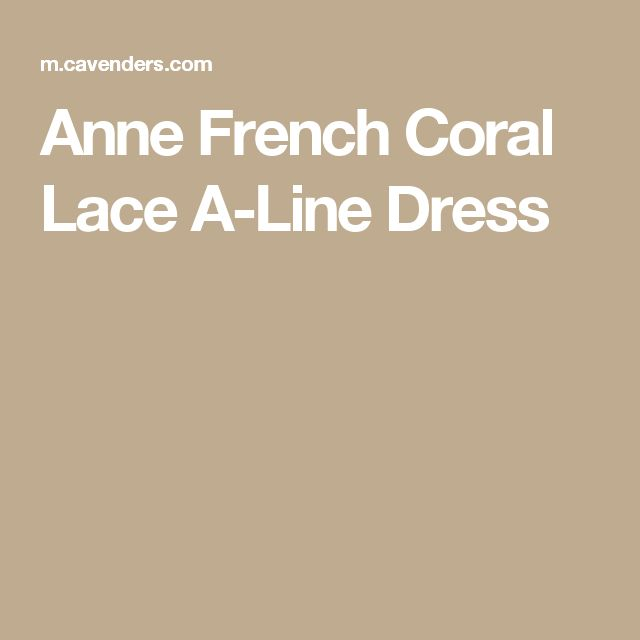 Anne French Coral Lace A-Line Dress