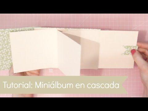 Tutorial: Miniálbum en cascada - ¡Pega, papel o tijeras!