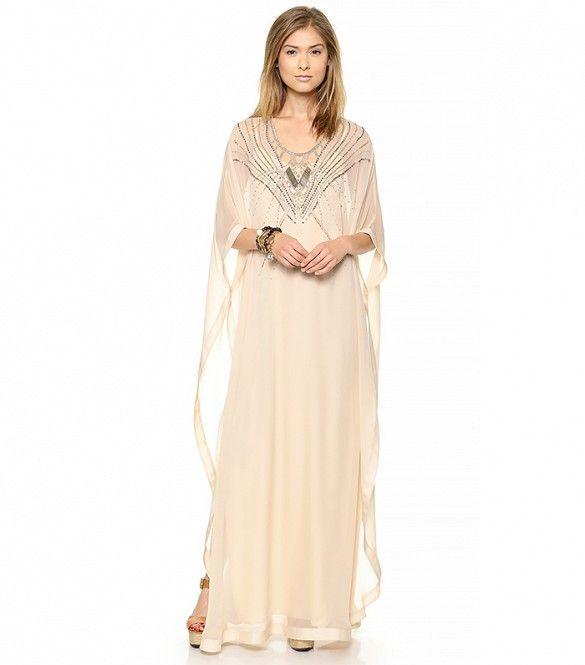 Clare Beaded Caftan Maxi Dress