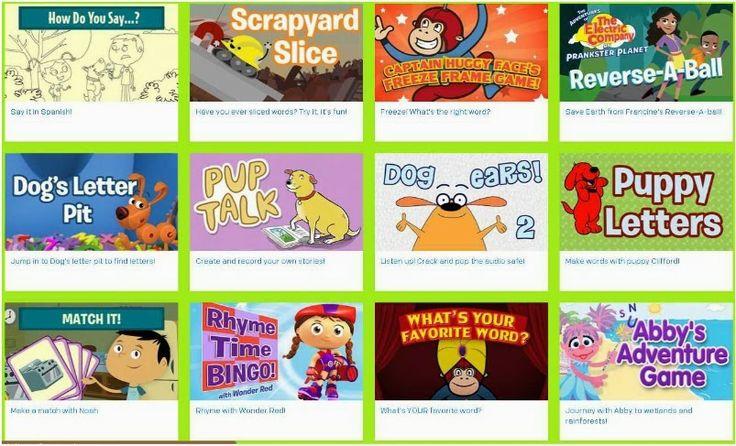 FREE PBS Kids Language and Vocabulary Games and MORE! viaThe Speech Knob