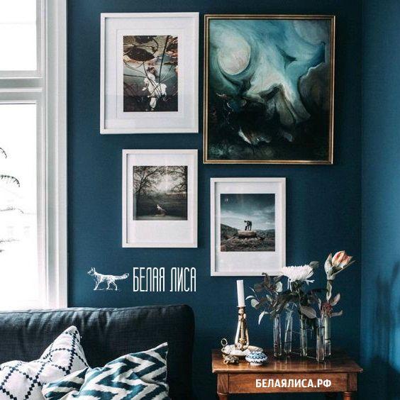 Оформление гостиной в голубом цвете /белаялиса.рф рамки фоторамки http://белаялиса.рф/оформление-гостиной-в-голубом-цвете/  Голубой цвет не так просто «сдружить» с прочими цветами, поэтому его не так что можно встретить в домашних интерьерах. И здесь дело не только в трудном выборе цветов-компаньонов, но также и в умении выбирать гармонию соотношения оттенков. Но при желании вы сможете оформить гостиную в голубом цвете, даже не важно, что вы решили оформлять этим оттенков – стены или мебель…