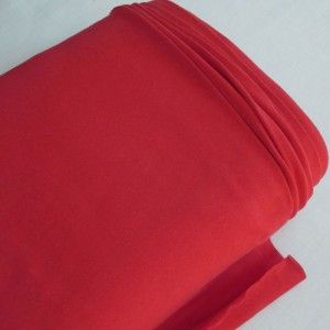 Red Cotton & Lycra Jersey Fabric