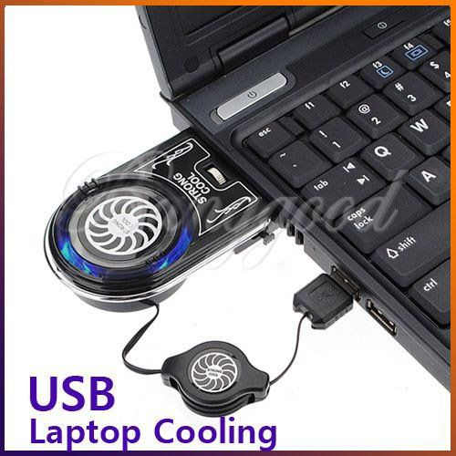 Smallest Mini Vacuum Blue LED USB Air Extracting Cooling Cooler Fan Dissipate Heat for Notebook Laptop Retractable Power Cable $5.99