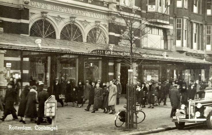 Tivoli, op de Coolsingel, ter hoogte van waar nu het Stadhuisplein is, jaren dertig.