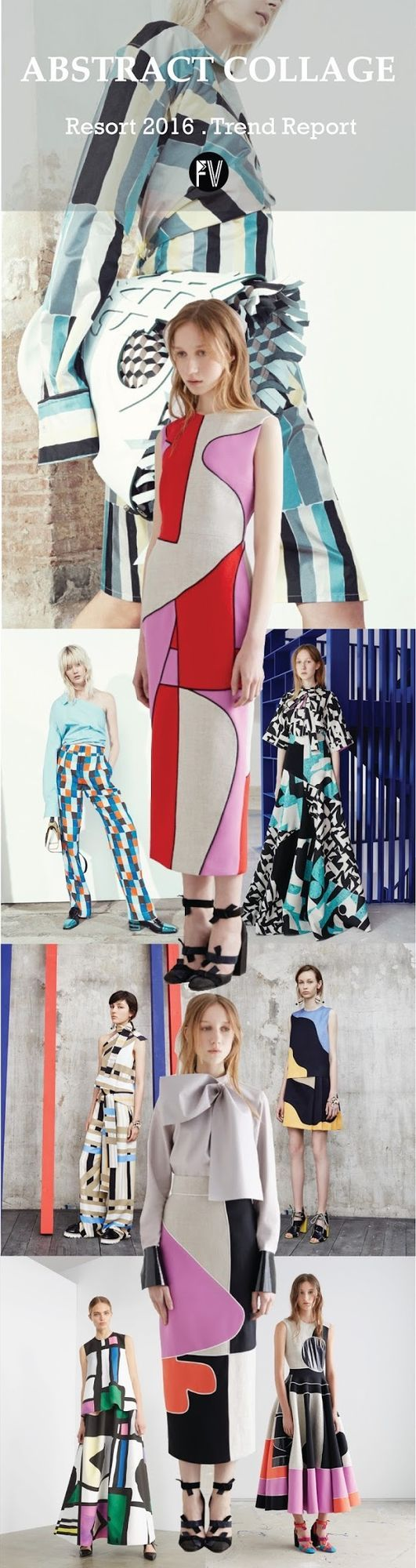 Resort 2016 runway/inspirations/color - Abstract Collage Courtesy . Style.comEmilio Pucci, Roksanda, Emilio Pucci, Roksanda, MSGM, Camilla and Mark, Roksanda