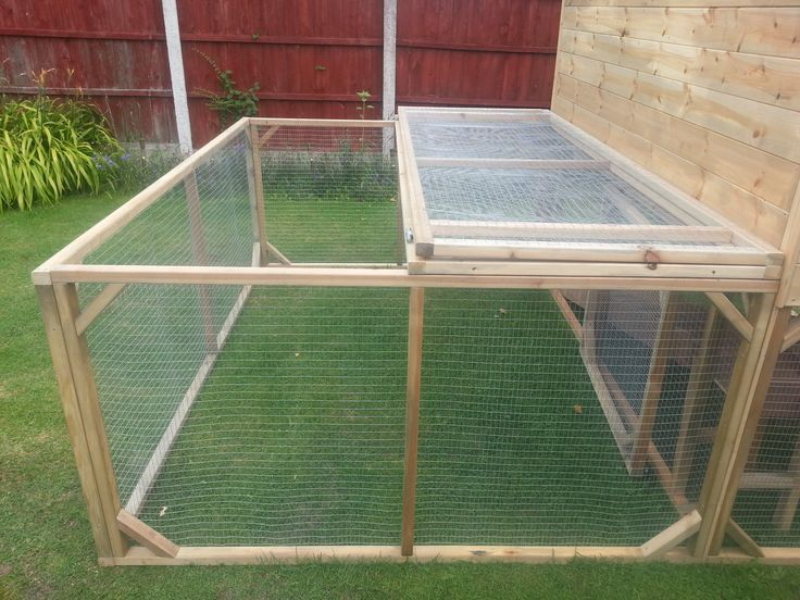 Rabbit Guinea Pig Run with Lift Up  mesh Roof.  Handmade By Boyles Pet Housing