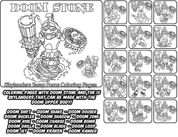 chaos skylanders coloring pages - photo#34