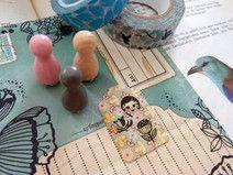 Mini Stempel Set Folklore Blumen und Gesicht