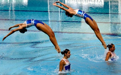 The grace, beauty, endurance, and strength that is synchronized swimming!