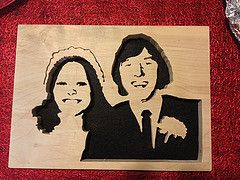 Scroll Saw Wedding Day Portrait